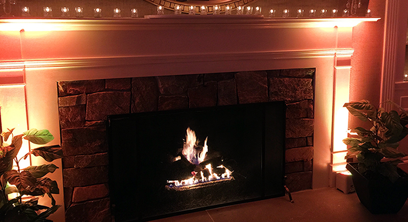 Music Express Fireplace Up-Lighting 2017